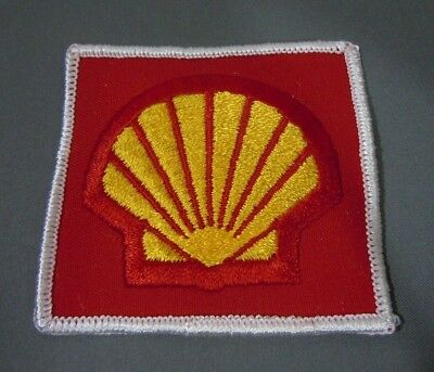 "SHELL OIL Embroidered Iron-On Uniform-Jacket Patch  3""x3"""
