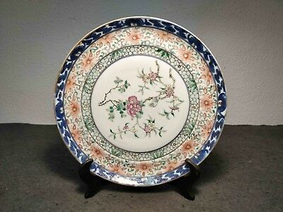Very Rare Antique Chinese Famille Rose Rice Grain Plate Marked Kangxi Xix Centur