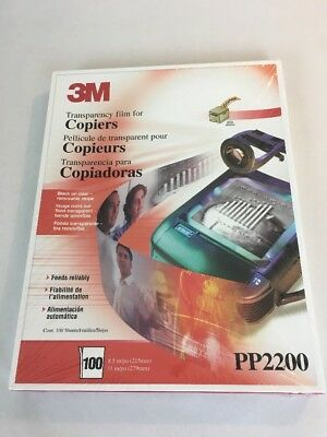 3M Transparency Film For Copiers PP2200 100 Sheets New