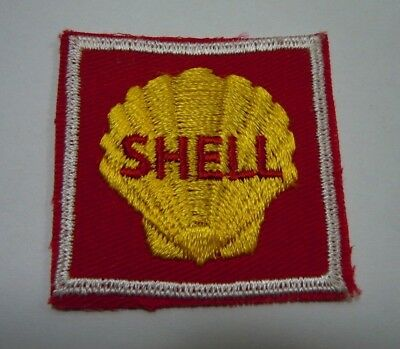"""Vintage Mini SHELL OIL Embroidered Sew-On Uniform-Jacket Patch 2"""" x 2"""""""