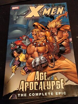 X-men Age of Apocalypse the complete epic book 1, pre-owned damaged cover