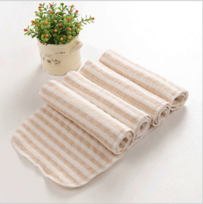 Reusable Washable Newborn Baby Cotton Cloth Diaper Nappy Liners Insert 3 Layers