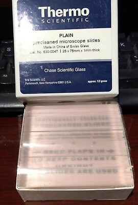 Thermo Scientific Plain  MICROSLIDES Pre-Cleaned apprx 80 slides