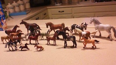 Mixed Lot of Schleich~Breyer  other Horses  19 pieces nice collection