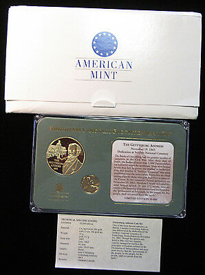 Lincoln Bicentennial Set - American Mint - Gettysburg Address. (618110)