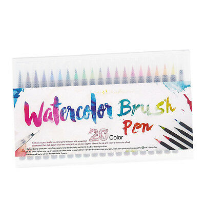 20 Colors Art Oil Watercolor Drawing Painting Pen Brush Sketch Manga Pens Set