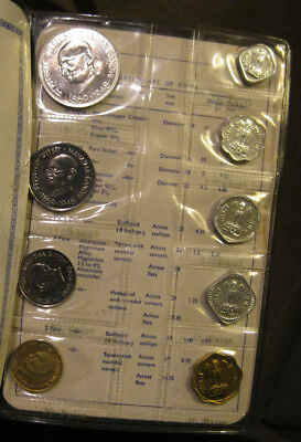 India - 1969 Proof Set (Gandhi) 9 Coins