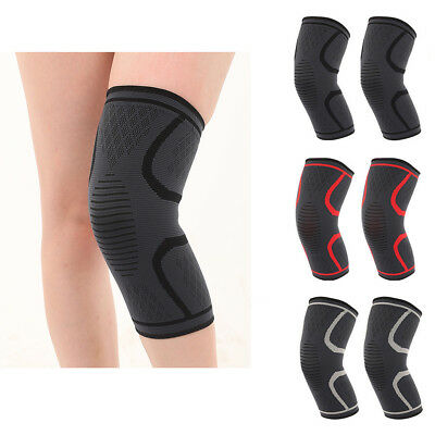 1 Pair Knee Sleeve Compression Brace Support Sports Joint Pain Arthritis Relief