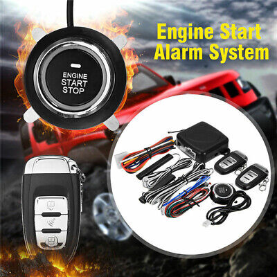 Car Alarm Start Security System Passive Keyless Entry Push Button Remote For Car