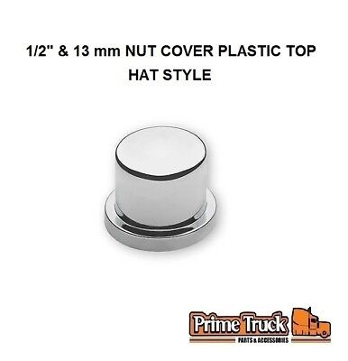 """(2 PCK) 1/2"""" & 13 mm NUT COVER PLASTIC TOP HAT STYLE"""