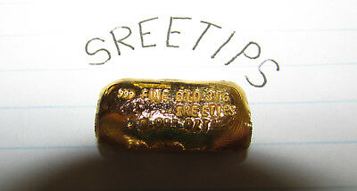 999 Fine Gold Bar Hand Poured 31grams - sreetips