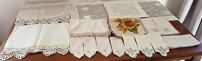 BULK LOT Vintage Retro TABLE CENTRES ANTIMACASSAR NAPKINS for Craft Sew Projects