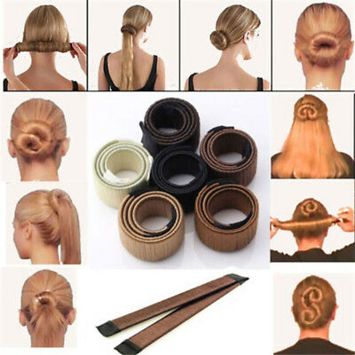 1x Magic Bun Maker Hair Donut Ponytail Clip Twister Styling Aid Tool Accessories