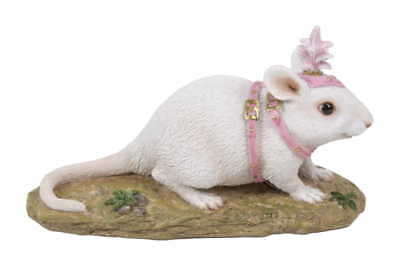 My Fairy Gardens Mini - White Carriage Mouse - Supplies
