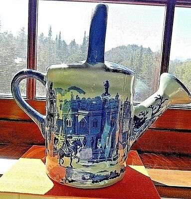 Vintage Victoria Ware Ironstone Blue Flow Watering Pitcher