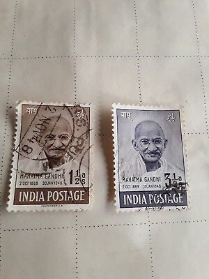 Indian Stamps - Used - Commemorating The Mahatma Gandhi - 1948