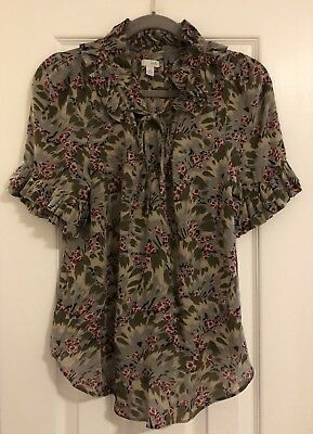 755c939a LADIES SZ 8 Anthropologie Odille - Sheer Floral Print Top - $19.99 ...