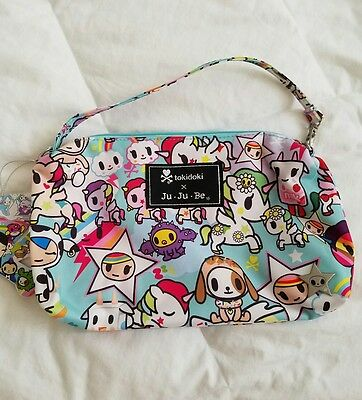 NWT Ju ju be Jjb Tokidoki Unikiki 2.0 Uni Unicornos Be Quick Small Wristlet Bag