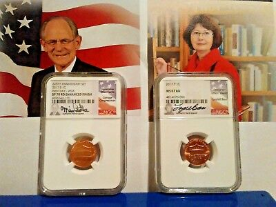 2017 S Enhanced Lincoln SP70. 2017 P LINCOLN MS67. SIGNED CASTLE & BASS. POP 190