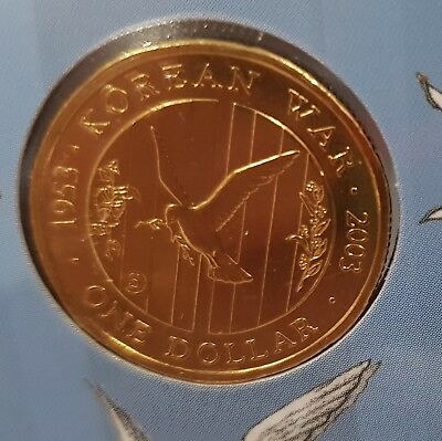 2003 - 50th Anniversary of end of the Korean War $1 - 4 coins - 4 Mintmarks