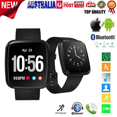 V6 Smart Watch Sports Fitness Activity Heart Rate Tracker Blood Pressure Watch