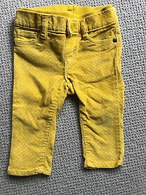 Baby Gap Girl Mustard pants 6-12 months