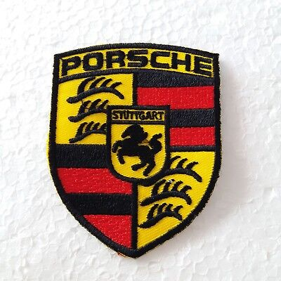 PORSCHE Logo Sports Car Racing  Embroidered Iron on Patch Applique DIY Sew