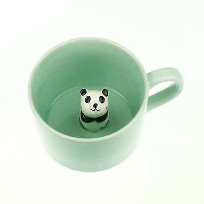 Panda Surprise 3D Coffee Mug Cute Cartoon Animal Ceramics Cup Baby Animal Inside