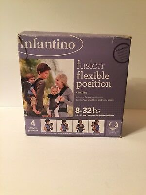 New Infantino Fusion Flexible Position Baby Carrier Grey Free