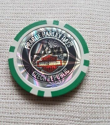 "1 originale Harley Davidson Pokerchips ""115 years   PRAGUE CZECH REPUBLIC """