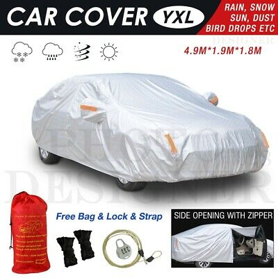 100% Waterproof YXL Full Car Cover 3 Layers Heavy Duty Breathable UV Protection
