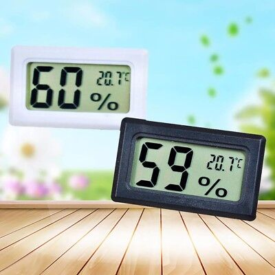 White/Black Digital LCD Thermometer Hygrometer Humidity Indoor Temperature Meter
