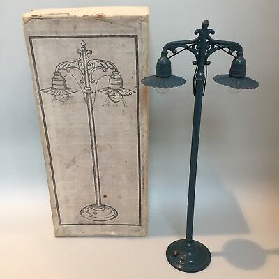 BING COPY ELECTRIC RAILWAY LAMP WITH BOX, ORIGINALLY 1920's