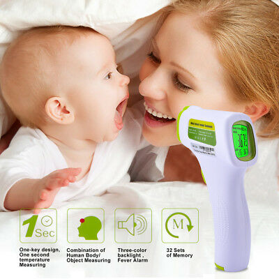 Digital Non-Contact Baby Forehead Thermometer Gun Laser LCD IR Infrared