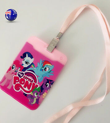 Girl Kid My little Pony Opal ID Card Holder Badge Wallet Case Protector Strap