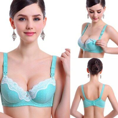 Pregnant Women Feeding Bras Underwired Lace Cotton Push up Maternity Nursing Bra