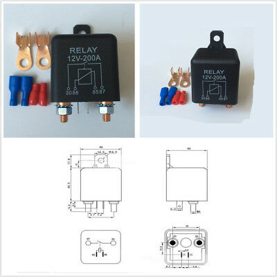 Car Relay Battery Switch For Car Starter Switch Relay+2 Pin Footprint+2 Terminal