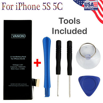 For Apple iPhone 5S Genuine OEM Li-ion Battery Replacement Kit 1560mAh Brand New