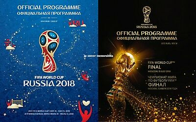 2018 World Cup - Officially Licensed FIFA Tournament Plus Final Programme - MINT