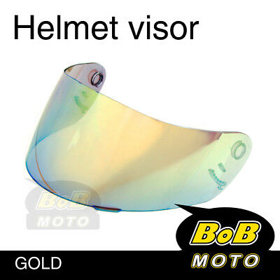 Gold Tinted Shield Helmet Visor Fit Shoei Multitec X-Eleven RAID 2 II TZ-R AU
