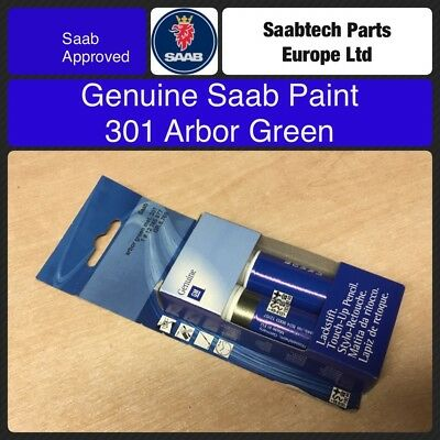 GENUINE SAAB Touch Up Paint. 301 Arbor Green 12765877