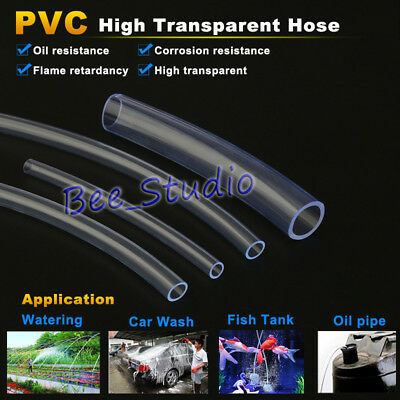 1M Clear Plastic Flexible Pipe PVC Hose Tube for Water Fish Tank Pump Aquarium