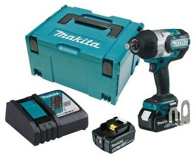 """Makita BRUSHLESS IMPACT WRENCH KIT DTW1001RTJ 3/4""""18V 5.0AH +Battery & Charger"""