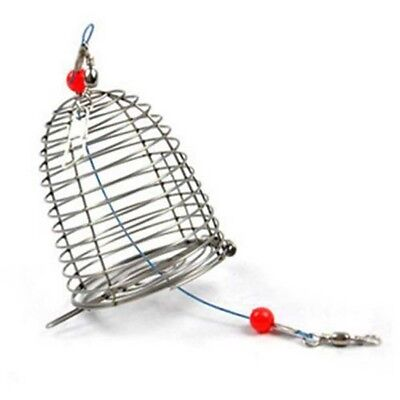 3 Size Lure Bait Cage Stainless Steel Wire Fishing Trap Basket Feeder Holder.pre