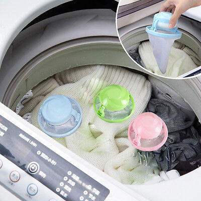 Home Washing Machine Laundry Supplies Floating Lint Mesh Pouch Bag Filter New