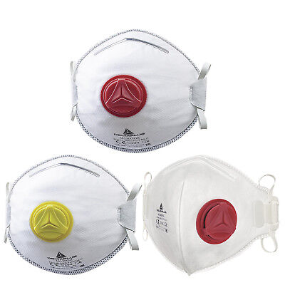 Delta Plus Valved Disposable Respiratory Face Dust Masks (Various Styles)