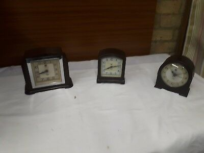 Antique electric clocks by Smiths Sectric