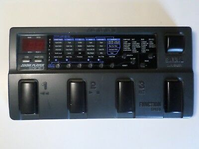 Zoom Player 2100 Sampling Guitar Multi Effects Pedal - with Loop Function