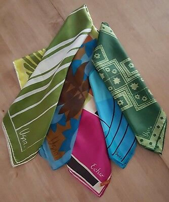 Lot of 4 Vintage Vera Neumann Scarves and 1 Echo Scarf