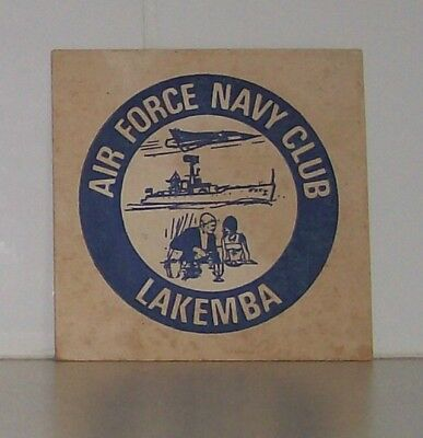 Collectable Beer Coaster - Air Force Navy Club Lakemba - 1970s
